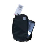 Top Bar Bag with Rotating Phone Holder, L17/H9/D4cm per pocked, black , toptube mount, secures w/ 3 velcro straps. 2 main pockets,.