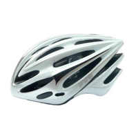 HELMET Profile, Double In-mould, Full retention ring for greater comfort, Dial Fit System, Medium/Large (58-62cm) SILVER/WHITE *Top Quality*