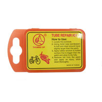 PUNCTURE REPAIR KIT (Individual item) inc rubber solution, valve rubber, metal rasp and 5 patches