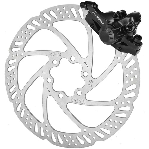 MD-M280,Front Mechanical Disc Brake,,W/Tektro logo,W/TR160-24 rotor,Stainless,IS, A-2,Black